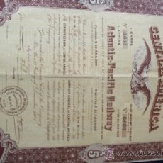 Coleccionismo Acciones Extranjeras: ACCION COMPANY GENERAL OF CENTRAL AMERICA . (1909).. Lote 34186807