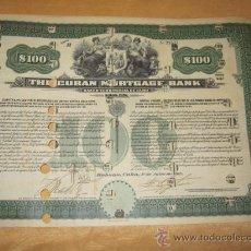Coleccionismo Acciones Extranjeras: ACCION BANCO : BANCO TERRITORIAL DE CUBA - LA HABANA 1915 - 38X26CM 2 HOJAS CUPONES. R7. Lote 34260585