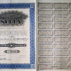 Coleccionismo Acciones Extranjeras: 1927.- SOCIETE DE L'EQUATEUR POUR LE COMMERCE L'INDUSTRIE & L'AGRICULTURE. COMPLETA. NUEVA.SECIA.. Lote 35059503