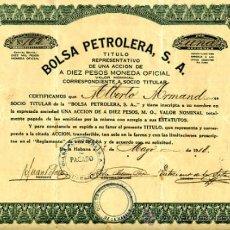 Coleccionismo Acciones Extranjeras: ACCION BOLSA PETROLERA SA , CUBA 1918 ,ORIGINAL, J36. Lote 35173206