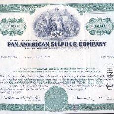 Coleccionismo Acciones Extranjeras: PAN AMERICAN SULPHUR COMPANY. 1968. Lote 35417447