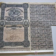 Coleccionismo Acciones Extranjeras: ACCIÓN COMPAÑIA MINERA NACIONAL ANONIMA EL CALLAO VENEZUELA 1887 CIUDAD BOLIVAR. Lote 35596473