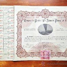 """Coleccionismo Acciones Extranjeras: ACCIÓN COMPAÑÍA DE PETROLEO """"EL ALAMO DE PÁNUCO"""" S.A. 1914. MÉXICO DF. . Lote 35622941"""