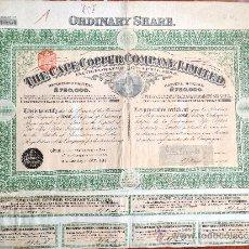 Coleccionismo Acciones Extranjeras: ACCIÓN THE CAPE COOPER COMPANY LIMITED. 1908. LONDRES. REINO UNIDO. Lote 35626678