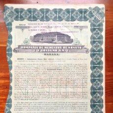 Coleccionismo Acciones Extranjeras: ACCIÓN COMPAÑÍA DE MERCADOS DE ABASTO Y CONSUMO S.A. 1919. HABANA. CUBA. Lote 35626838