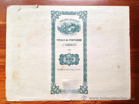Coleccionismo Acciones Extranjeras: ACCIÓN MINA DORA S.A. HABANA, 1917. CUBA - Foto 2 - 35626857