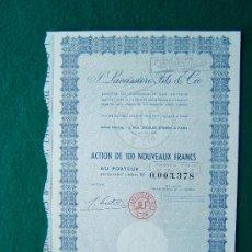 Coleccionismo Acciones Extranjeras: ACCIONES. J. LAVEISSIERE FILS & CIE. - PARIS - 27 X 19 CM. - 1979 . Lote 35737084