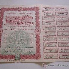 Coleccionismo Acciones Extranjeras: ACCIÓN COMPAÑIA DE LAS MINAS DE ORO Y PLATA LA PRECIOSA MEXICO 1911. Lote 108531495