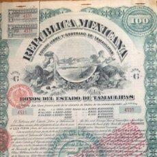 Coleccionismo Acciones Extranjeras: REPÚBLICA MEXICANA - BONOS DEL ESTADO DE TAMAULIPAS (1.903). Lote 37575475