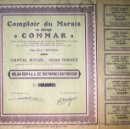 """Coleccionismo Acciones Extranjeras: 1944.-OBLIGATION DE 100 FR. AL 4 % DE COMPTOIR DU MARAIS ABREVIADO """"COMMAR"""", S.A. . Lote 37607967"""