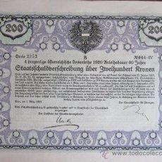 Coleccionismo Acciones Extranjeras: 1920. BONO ALEMANIA. 200 CORONAS. Lote 37654547