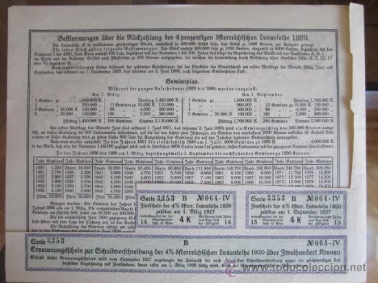Coleccionismo Acciones Extranjeras: 1920. BONO ALEMANIA. 200 CORONAS - Foto 2 - 37654547