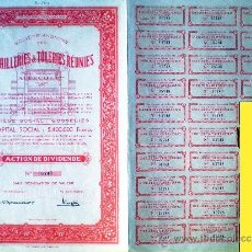 Coleccionismo Acciones Extranjeras: 1944.- ACTION DE DIVIDENDE DE EMAILLERIES & TOLERIES REUNIES, S.A. CON CUPONES. . Lote 37924468
