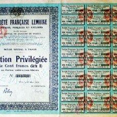 Coleccionismo Acciones Extranjeras: 1926.-ACTION PRIVILÉGÉE DE 100 FR. D.
