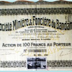 "Coleccionismo Acciones Extranjeras: 1910.- ACTION DE 100 FR. AU PORTEUR DE SOCIETE MINIERE & FONCIERE DU BANDAMA, S.A. ""COTE D'IVOIR"" . Lote 38024678"