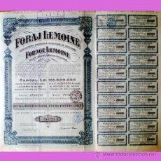 Coleccionismo Acciones Extranjeras: 1924.- ACTIUNE DE 500 LEI DE SOCIETATE ANONIMA ROMANA PE ACTIUNI -FORAJ LEMOINE-. . Lote 38024948