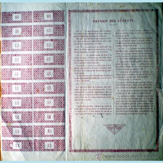 Coleccionismo Acciones Extranjeras: Reverso - Foto 2 - 38046234
