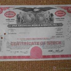 Colecionismo Ações Internacionais: PAN AMERICAN WORLD AIRWAYS,INC. Lote 42503225