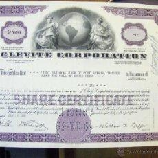 Coleccionismo Acciones Extranjeras: CLEVITE CORPORATION PRECIOSO GRABADO NOMINATIVA EN A4 CLEVELAND. Lote 44649817