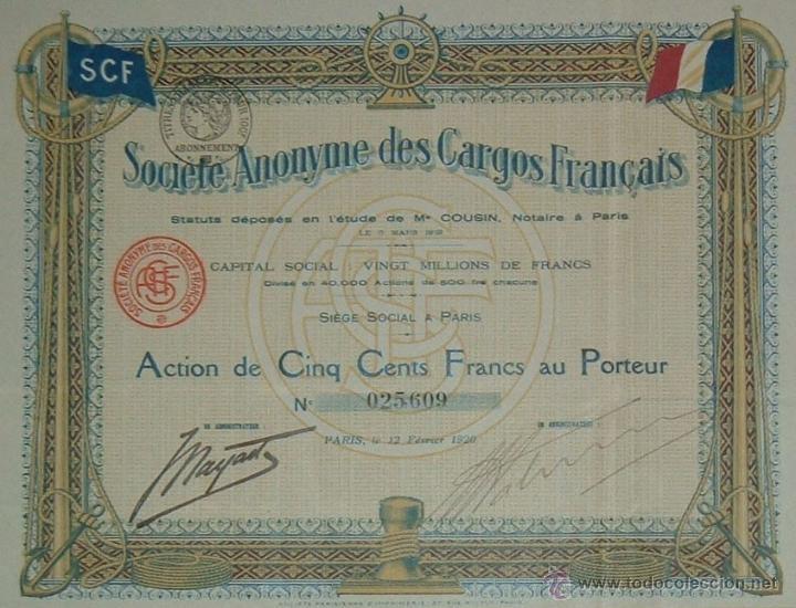 wide range online here sale online Navegación: Sociedad Anónima de Cargueros Franceses / Société Anonyme des  Cargos Français (1920)