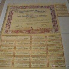 Coleccionismo Acciones Extranjeras: CRÉDIT FONCIER ARGENTIN. Lote 47334959