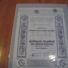 Coleccionismo Acciones Extranjeras: ÉTABLISSEMENTS V S. GUILLON & FILS. Lote 47347263
