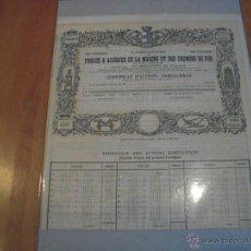 Coleccionismo Acciones Extranjeras: COMPAGNIE FORGES & ACIÉRIES DE LA MARINE ET DES CHEMINS DE FER. Lote 47350379