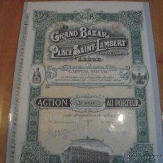 Coleccionismo Acciones Extranjeras: ACCIÓN GRAND BAZAR DE LA PLACE SAINT-LAMBERT. Lote 47350510