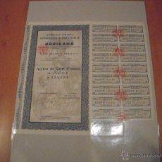 Coleccionismo Acciones Extranjeras: ACCIÓN COMPAGNIE AGRICOLE COMMERCIALE & INDUSTRIELLE BADIKAHA. Lote 47351554