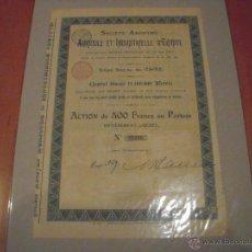 Coleccionismo Acciones Extranjeras: SOCIÉTÉ ANONYME AGRICOLE ET INDUSTRIELLE D'EGYPTE (1897). Lote 47355979