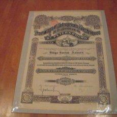 Coleccionismo Acciones Extranjeras: TRAMWAYS ET ENTREPRISES ÉLECTRIQUES DE LA BANLIEUE DE ST. PETERSBOURG. Lote 47359677