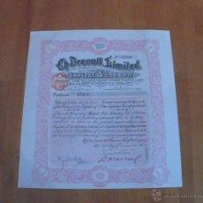 Coleccionismo Acciones Extranjeras: CH. DRECOLL, LIMITED. -1910-. Lote 47367024