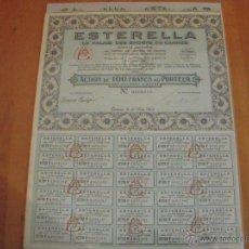 Coleccionismo Acciones Extranjeras: ESTERELLA LE PALAIS DES SPORTS DE CANNES -1929-. Lote 47367578