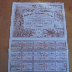Coleccionismo Acciones Extranjeras: SISALERIES ET CARBURANTS AFRICAINS 1928. Lote 47380174