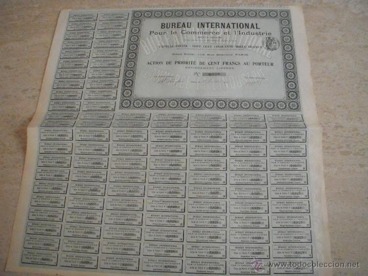 Bureau international pour le commerce et l indu comprar acciones