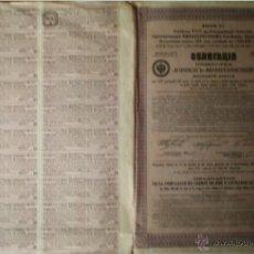 Coleccionismo Acciones Extranjeras: 1914.- OBLIGACION IMPERIO RUSO DE 500 FR. DE CIA. FERROCARRILES DE ATCHINSK-MINOUSSINSK. 31 CUPONES. Lote 51599591