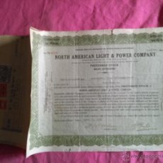 Coleccionismo Acciones Extranjeras: NORTH AMERICAN LIGHT & POWER COMPANY. 1928 (ESTADOS UNIDOS). Lote 53005727