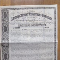 Coleccionismo Acciones Extranjeras: LISBON STEAM TRAMWAYS COMPANY LIMITED (1873). Lote 57130774