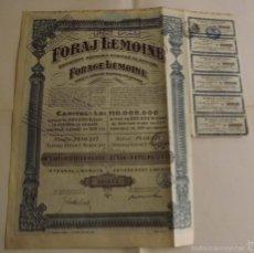 Coleccionismo Acciones Extranjeras: 1924, ACCIÓN FORAJ LEMOINE, FORAGE LEMOINE. Lote 57240555
