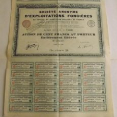Coleccionismo Acciones Extranjeras: 1928, SOCIÉTÉ ANONYME D'EXPLOITATIONS FONCIÈRES. Lote 57240574