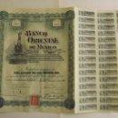 Coleccionismo Acciones Extranjeras: 1900, ACCIÓN BANCO ORIENTAL DE MÉXICO. Lote 57241212