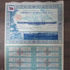 Coleccionismo Acciones Extranjeras: ACCION ARGELINA DE CHARLES SCHIAFFINO & CIE. AÑO 1951.. Lote 57451342