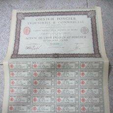 Coleccionismo Acciones Extranjeras: ACCION. OMNIUM FONCIER INDUSTRIEL & COMMERCIAL. PARIS. 1923. Lote 57479348