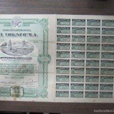 Coleccionismo Acciones Extranjeras: ACCION. COMPAÑIA PETROLERA EL TRIUNFO, S.A. MEXICO. 1916. Lote 57482468