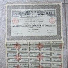 Coleccionismo Acciones Extranjeras: ACCION. CORPORATION MINIÈRE DU MEXIQUE. AÑO 1923.. Lote 57485033