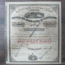 Coleccionismo Acciones Extranjeras: ACCION. EMPRESA DEL FERRO-CARRIL DE GUANTÁNAMO. AÑO 1899.. Lote 57504377