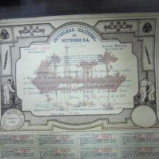 Coleccionismo Acciones Extranjeras: ACCION. PETROLERA NACIONAL DE MOTEMBO, S.A. HABANA. AÑO 1939.. Lote 57506975