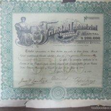 Coleccionismo Acciones Extranjeras: ACCION. TRINIDAD INDUSTRIAL, S.A. CUBA, 1920. Lote 57642555