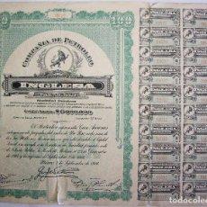 Coleccionismo Acciones Extranjeras: 100 ACCIONES DE LA COMPAÑIA DE PETROLEO INGLESA - HABANA CUBA 1956. Lote 66104638
