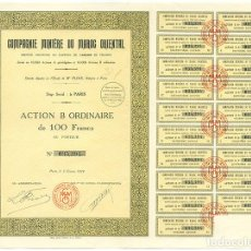 Coleccionismo Acciones Extranjeras: COMPAGNIE MINIÈRE DU MAROC ORIENTAL. ACTION B ORDINAIRE DE 100 FRANCS. PARIS 1929. Lote 66472494